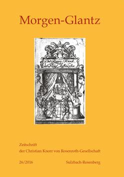 Morgen-Glantz – 26/2016 von Jahn,  Bernhard, Scheitler,  Irmgard