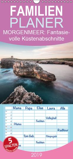 MORGENMEER – Fantasievolle Küstenabschnitte – Familienplaner hoch (Wandkalender 2019 , 21 cm x 45 cm, hoch) von Korte,  Niko