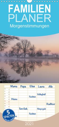 Morgenstimmungen 2021 – Familienplaner hoch (Wandkalender 2021 , 21 cm x 45 cm, hoch) von Hennig,  Jörg