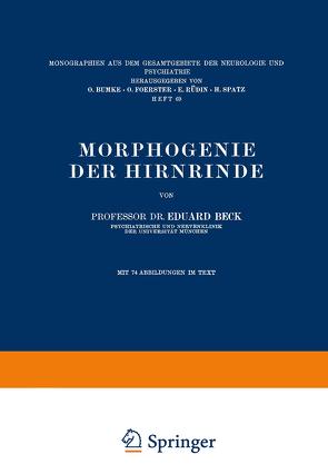 Morphogenie der Hirnrinde von Beck,  Eduard