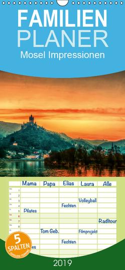 Mosel Impressionen Mystische Burgen und magische Orte – Familienplaner hoch (Wandkalender 2019 , 21 cm x 45 cm, hoch) von Wenske,  Steffen