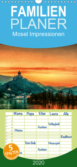 Mosel Impressionen Mystische Burgen und magische Orte – Familienplaner hoch (Wandkalender 2020 , 21 cm x 45 cm, hoch) von Wenske,  Steffen