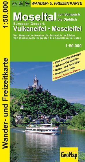 Moseltal, Vulkaneifel, Moseleifel Wander- und Freizeitkarte