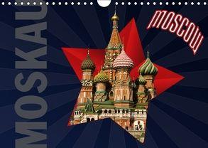 Moskau – Moscow (Wandkalender 2018 DIN A4 quer) von Koch,  Hermann