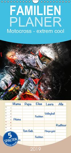 Motocross – extrem cool – Familienplaner hoch (Wandkalender 2019 , 21 cm x 45 cm, hoch) von Roder,  Peter