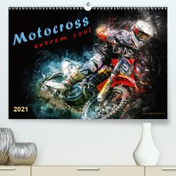 Motocross – extrem cool (Premium, hochwertiger DIN A2 Wandkalender 2021, Kunstdruck in Hochglanz) von Roder,  Peter