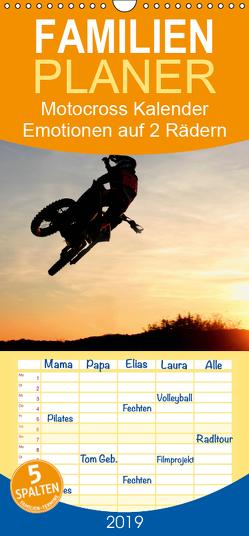 Motocross Kalender – Emotionen auf 2 Rädern – Familienplaner hoch (Wandkalender 2019 , 21 cm x 45 cm, hoch) von by FC - Jeannette Dewald,  Photos