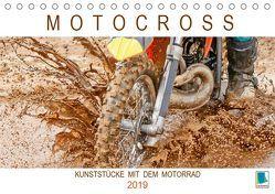 Motocross: Kunststücke mit dem Motorrad (Tischkalender 2019 DIN A5 quer) von CALVENDO