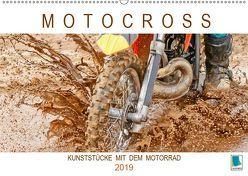 Motocross: Kunststücke mit dem Motorrad (Wandkalender 2019 DIN A2 quer) von CALVENDO