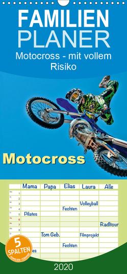 Motocross – mit vollem Risiko – Familienplaner hoch (Wandkalender 2020 , 21 cm x 45 cm, hoch) von Roder,  Peter