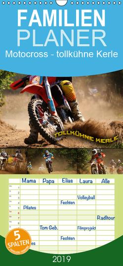 Motocross – tollkühne Kerle – Familienplaner hoch (Wandkalender 2019 , 21 cm x 45 cm, hoch) von Bleicher,  Renate