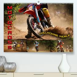 Motocross – tollkühne Kerle (Premium, hochwertiger DIN A2 Wandkalender 2021, Kunstdruck in Hochglanz) von Bleicher,  Renate