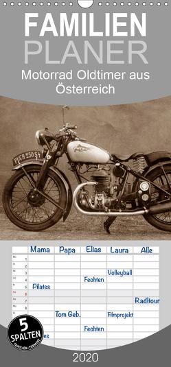 Motorrad Oldtimer aus Österreich – Familienplaner hoch (Wandkalender 2020 , 21 cm x 45 cm, hoch) von Siebenhühner,  Gabi