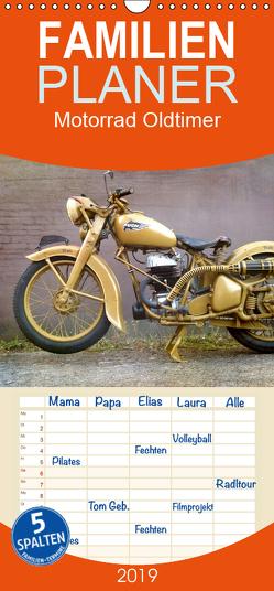 Motorrad Oldtimer – Familienplaner hoch (Wandkalender 2019 , 21 cm x 45 cm, hoch) von Siebenhühner,  Gabi