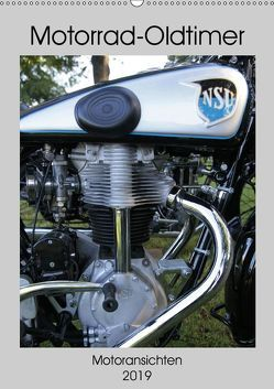 Motorrad Oldtimer – Motoransichten (Wandkalender 2019 DIN A2 hoch) von Ehrentraut,  Dirk
