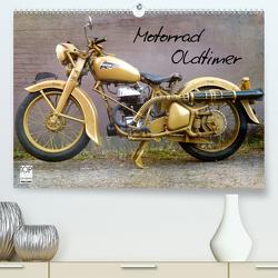 Motorrad Oldtimer (Premium, hochwertiger DIN A2 Wandkalender 2021, Kunstdruck in Hochglanz) von Siebenhühner,  Gabi