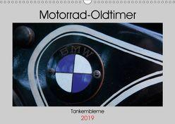 Motorrad Oldtimer – Tankembleme (Wandkalender 2019 DIN A3 quer) von N.,  N.