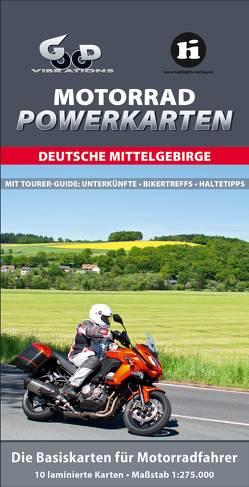 Motorrad Powerkarten Deutsche Mittelgebirge