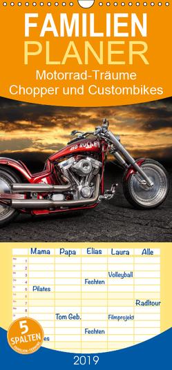 Motorrad-Träume – Chopper und Custombikes – Familienplaner hoch (Wandkalender 2019 , 21 cm x 45 cm, hoch) von Pohl,  Michael