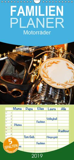 Motorräder – Familienplaner hoch (Wandkalender 2019 , 21 cm x 45 cm, hoch) von Kauss www.kult-fotos.de,  Kornelia