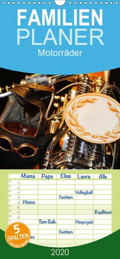 Motorräder – Familienplaner hoch (Wandkalender 2020 , 21 cm x 45 cm, hoch) von Kauss www.kult-fotos.de,  Kornelia