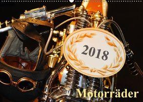 Motorräder (Wandkalender 2018 DIN A2 quer) von Kauss www.kult-fotos.de,  Kornelia