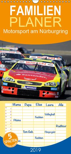 Motorsport am Nürburgring – Familienplaner hoch (Wandkalender 2019 , 21 cm x 45 cm, hoch) von Wilczek,  Dieter-M.