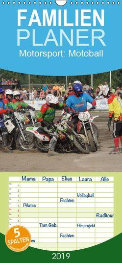 Motorsport: Motoball – Familienplaner hoch (Wandkalender 2019 , 21 cm x 45 cm, hoch) von Heimar,  Foto