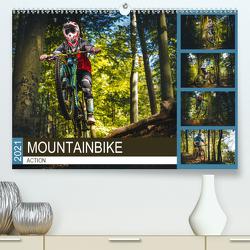 Mountainbike Action (Premium, hochwertiger DIN A2 Wandkalender 2021, Kunstdruck in Hochglanz) von Meutzner,  Dirk