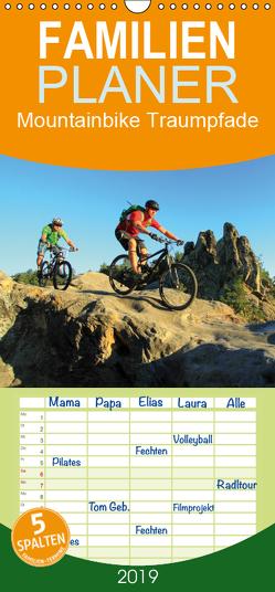 Mountainbike Traumpfade – Familienplaner hoch (Wandkalender 2019 , 21 cm x 45 cm, hoch) von Rotter,  Matthias