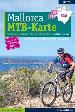 Mountainbikekarte Mallorca (Kartenset mit Nord + Süd-Blatt)