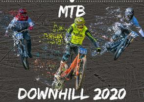 MTB Downhill (Wandkalender 2020 DIN A2 quer) von Picfiart