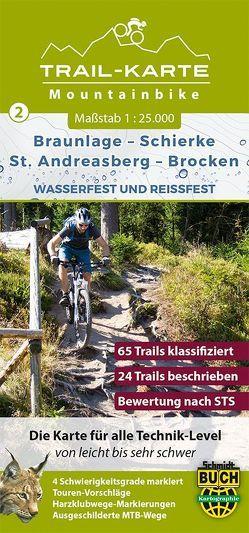 MTB Trail-Karte Harz: Braunlage – Schierke – St. Andreasberg – Brocken von Schmidt,  Maximilian, Schmidt,  Thorsten, Spachmüller,  Bernhard