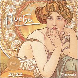 Mucha 2022 – Wand-Kalender – Broschüren-Kalender – 30×30 -30×60 geöffnet – Kunst-Kalender von Mucha,  Alfons