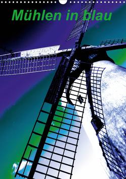 Mühlen in blau (Wandkalender 2020 DIN A3 hoch) von Voigt-Papke,  Gabriele