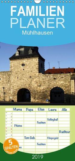 Mühlhausen – Familienplaner hoch (Wandkalender 2019 , 21 cm x 45 cm, hoch) von Berg,  Martina