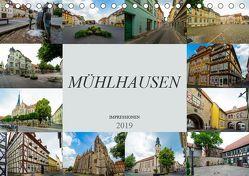 Mühlhausen Impressionen (Tischkalender 2019 DIN A5 quer) von Meutzner,  Dirk