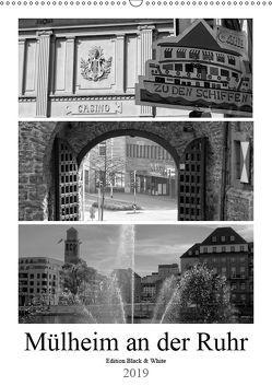 Mülheim an der Ruhr Edition Black & White 2019 (Wandkalender 2019 DIN A2 hoch) von Hebgen,  Peter