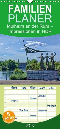 Mülheim an der Ruhr – Impressionen in HDR – Familienplaner hoch (Wandkalender 2019 , 21 cm x 45 cm, hoch) von Hebgen,  Peter