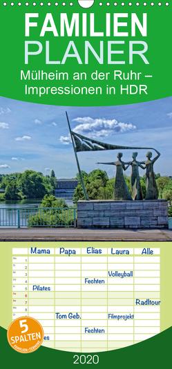 Mülheim an der Ruhr – Impressionen in HDR – Familienplaner hoch (Wandkalender 2020 , 21 cm x 45 cm, hoch) von Hebgen,  Peter