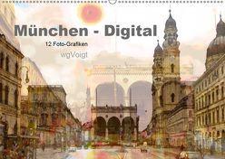 München-Digital (Wandkalender 2019 DIN A2 quer) von wgVoigt