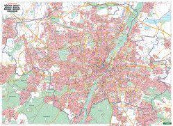 München, Stadtplan 1:22.500, Poster, metallbestäbt