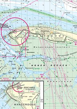 Mündungen der Jade und der Neuen Weser, Langeoog bis Wangerooge von Bundesamt für Seeschifffahrt und Hydrographie