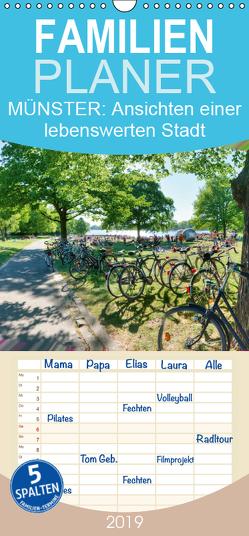 MÜNSTER: Ansichten einer lebenswerten Stadt – Familienplaner hoch (Wandkalender 2019 , 21 cm x 45 cm, hoch) von Kubisch,  Chris