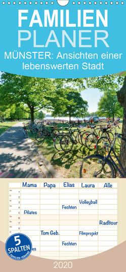 MÜNSTER: Ansichten einer lebenswerten Stadt – Familienplaner hoch (Wandkalender 2020 , 21 cm x 45 cm, hoch) von Kubisch,  Chris