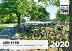MÜNSTER :: Ansichten einer lebenswerten Stadt (Wandkalender 2020 DIN A4 quer) von Kubisch,  Chris