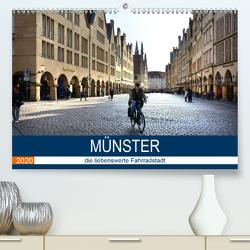 Münster – die liebenswerte Fahrradstadt (Premium, hochwertiger DIN A2 Wandkalender 2020, Kunstdruck in Hochglanz) von Bartruff,  Thomas