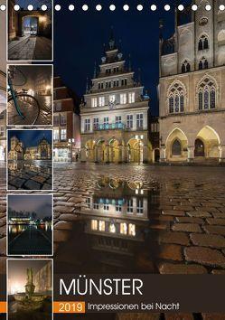Münster – Impressionen bei Nacht (Tischkalender 2019 DIN A5 hoch) von Herzog,  Gregor
