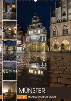 Münster – Impressionen bei Nacht (Wandkalender 2019 DIN A2 hoch) von Herzog,  Gregor