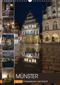 Münster – Impressionen bei Nacht (Wandkalender 2019 DIN A3 hoch) von Herzog,  Gregor